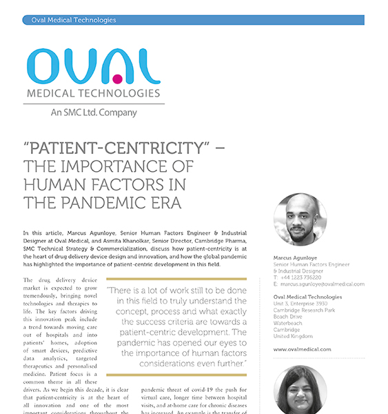 ONdrugDelivery Patient Centricity the Importance of Human Factors in the Pandemic Era-1